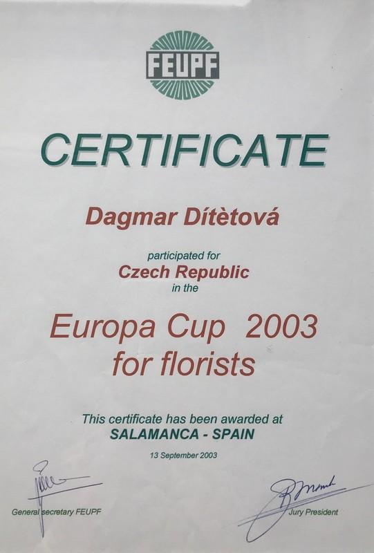 Certificat_EUCup2003_Mistrflorista
